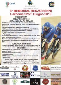 Sabato 22 e domenica 23 giugno, a Carbonia, si svolgerà il 3° Memorial Renzo Senni.