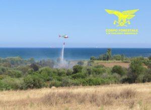 Ancora incendi in Sardegna, 4 su 11 hanno richiesto l'intervento degli elicotteri del Corpo forestale regionale.