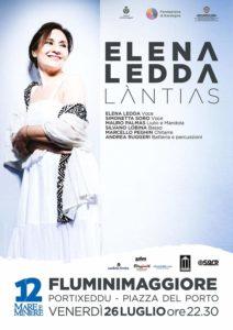 """Mare e Miniere 2019 riprende la sua programmazione musicale a Portixeddu – Fluminimaggiore, venerdì 26 luglio, con """"Làntias"""" diElena Ledda."""