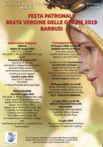 Questa sera, a Barbusi, si svolgerà la processione della Beata Vergine delle Grazie, con inizio alle ore 18.30.