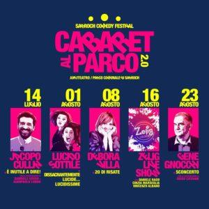 Torna la comicità, a Sarroch, dal 14 luglio al 23 agosto, con la rassegna Cabaret al Parco 2.0.