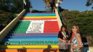 Questa sera, a Carbonia, è stata inaugurata la scalinata intitolata alle vittime della strage di mafia di via D'Amelio.