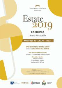 """Sarà anche lo spettacolo di musica classica di alta qualità a caratterizzare il programma di """"Estiamoinsieme 2019"""" stilato dall'Amministrazione comunale di Carbonia."""