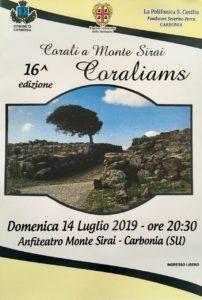 """Domenica 14 luglio, alle ore 20.30, l'anfiteatro di Monte Sirai ospiterà la 16ª edizione della manifestazione """"Corali a Monte Sirai – Concerto Coraliams""""."""