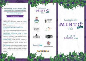 Dal 9 all'11 agosto, a Telti (SS), la Sagra del Mirto festeggerà i suoi primi 25 anni.