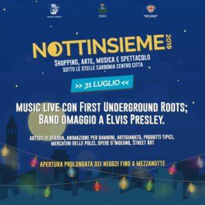 """Oggi, mercoledì 31 luglio, a Carbonia, si svolgerà il terzo appuntamento con """"Nottinsieme 2019""""."""