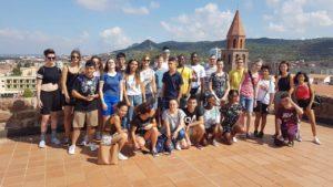 """Ieri pomeriggio l'Amministrazione comunale di Carbonia ha salutato i 15 ragazzi arrivati dalla Germania per partecipare al progetto di scambio interculturale """"Multi""""."""