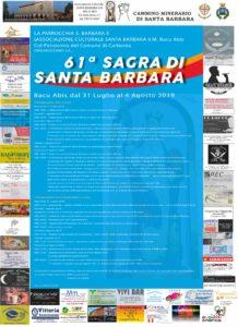 Mercoledì 31 luglio, a Bacu Abis, prende il via la 61 ͣ edizione della Sagra di Santa Barbara, la patrona dei minatori.