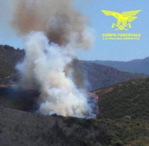 Un'altra giornata di incendi in Sardegna, 18 quelli segnalati, 4 quelli che hanno richiesto l'intervento degli elicotteri del Corpo forestale regionale.