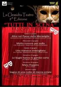 """Si avvia alla conclusione la 9ª rassegna teatrale """"Tutti in scena"""", organizzata da """"La Clessidra Teatro"""", con il patrocinio del comune di Carbonia."""