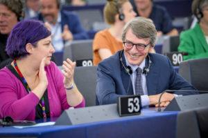 """Il presidente del Parlamento europeo David Sassoli ha annunciato oggi a Strasburgo il vincitore del 13° Premio Lux per il cinema: """"Dio è donna e si chiama Petrunya"""", di Teona Mitevska."""