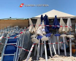 """Il personale dell'Ufficio Circondariale Marittimo di Sant'Antioco, nell'ambito di """"Mare Sicuro 2019"""", ha sequestrato circa 4.400 m2 di area demaniale marittima."""