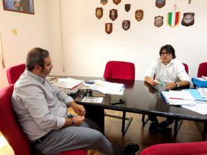 Questa mattina il sindaco Ignazio Locci ha incontrato il consigliere regionale della Lega Michele Ennas, in visita istituzionale nel comune di Sant'Antioco.