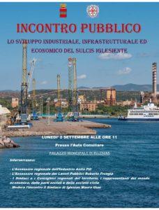 Lunedì 2 settembre, alle ore 11.00, presso l'Aula Consiliare del Municipio di Iglesias, si terrà un incontro sullo sviluppo industriale, infrastrutturale ed economico del Sulcis Iglesiente.