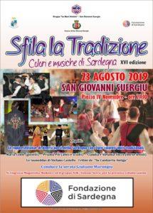 """Venerdì 23 agosto le ACLI di San Giovanni Suergiu proporranno la XVI edizione dell'evento""""Sfila La tradizione: colori e musiche di Sardegna""""."""