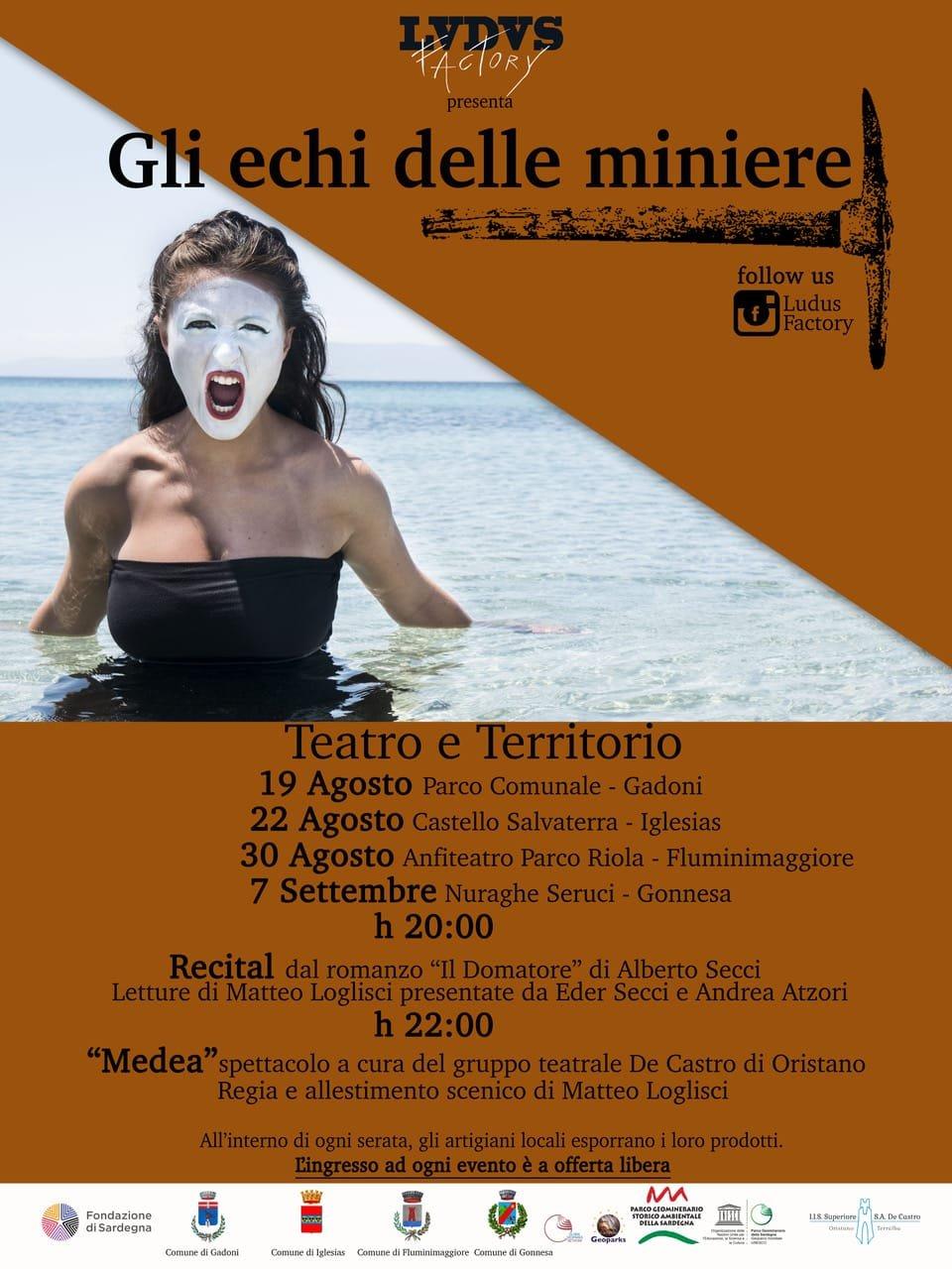 """Sabato mattina, a Iglesias, verrà presentata la rassegna teatrale """"Gli echi delle miniere""""."""