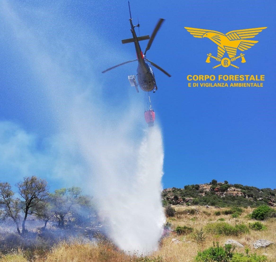 3 elicotteri del Corpo forestale stanno intervenendo ad Arzana e Villanova Monteleone.
