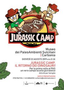 Per la prima volta, al Museo dei PaleoAmbienti Sulcitani di Carbonia, giovedì 22 agosto, alle 21.30, si terrà un vero campo-scuola giurassico.