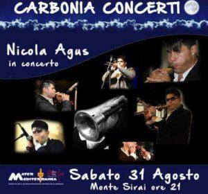 E' stato rinviato per il tempo incerto, il concerto del musicista Nicola Agus, in programma domani sera a Monte Sirai.