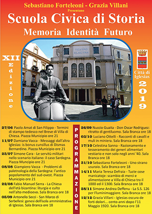 XII Scuola Civica di Storia Città di Iglesias.