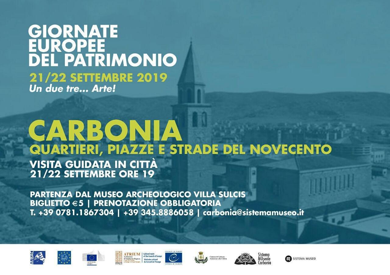 Le iniziative organizzate dalla Coop Sistema Museo di Carbonia nell'ambito delle Giornate europee del patrimonio per sabato 21 e domenica 22 settembre.