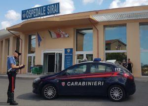 I carabinieri di Carbonia hanno arrestato un 44enne per furto aggravato nei distributori automatici dell'ospedale Sirai.