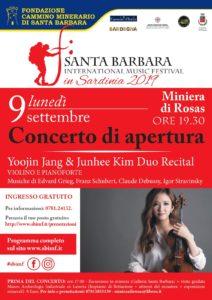 La Miniera di Rosas ospiterà lunedì sera il concerto inaugurale del 1° Santa Barbara International Music Festival.
