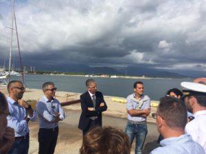 Fa tappa ad Arbatax e Santa Maria Navarrese il penultimo appuntamento dell'assessore dei Lavori Pubblici Roberto Frongia, impegnato in una serie di sopralluoghi incentrati sulle infrastrutture portuali.