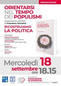 """Questa sera, a Cagliari, verrà presentato il libro """"Ricostruiamo la politica"""" di padre Francesco Occhetta."""