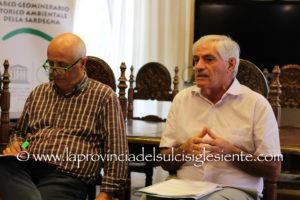 Il presidente del Geoparco Tarcisio Agus ed il direttore Ciro Pignatelli ieri mattina hanno spiegato in una conferenza stampa com'è maturata l'espulsione dalla Rete Mondiale dei Geoparchi.