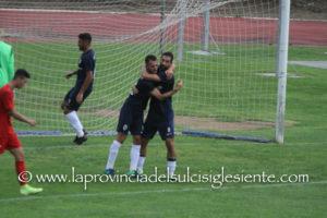 Il Carbonia ha iniziato la stagione con una netta vittoria esterna sul campo della San Marco, 4 a 1, nell'andata degli ottavi di finale della Coppa Italia.