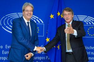 Il presidente del Parlamento europeo David Sassoli ha incontrato oggi il Commissario designato agli affari economici on. Paolo Gentiloni.