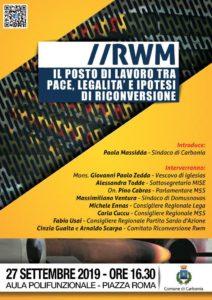 """La sala polifunzionale di piazza Roma, ospiterà venerdì pomeriggio, un incontro pubblico dal titolo """"Rwm: il posto di lavoro tra pace, legalità e riconversione""""."""