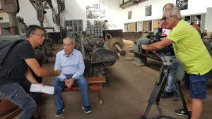 Sono state completate le riprese della troupe di RAI News24 per un servizio sul tema del lavoro lungo il Cammino Minerario di Santa Barbara.