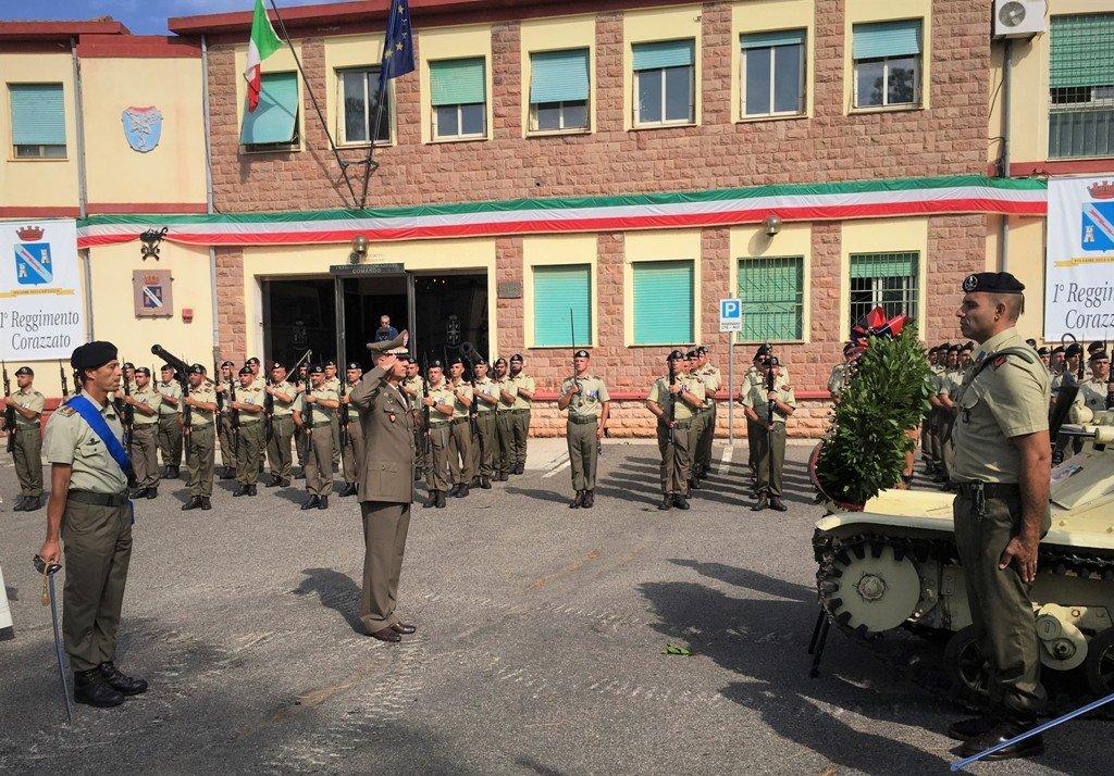 Si è svolta oggi, alla Caserma S. Pisano di Teulada, la cerimonia dell'83esimo anniversario della costituzione del Primo Reggimento Corazzato.