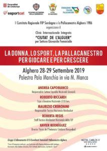 """IlComitato regionale della Fip Sardegna e la Pallacanestro Alghero 1986, organizzano ad Alghero, dal28 al 29 settembre, il """"Clinic Integrato Internazionale – Ciutat de l'Alguer""""."""