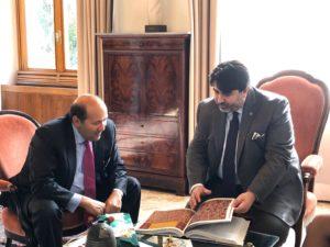 Il presidente della Regione ha ricevuto stamane, nel corso di una visita istituzionale a Villa Devoto, l'ambasciatore dell'Egitto in Italia.