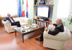 Nel primo pomeriggio di oggi il comandante provinciale dei carabinieri di Cagliari, col. Cesario Totaro, ha ricevuto il sindaco di Cagliari, Paolo Truzzu.