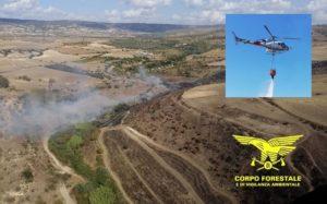 Su un totale di 18 incendi sviluppatisi oggi in Sardegna, due hanno richiesto l'intervento del mezzo aereo del Corpo forestale.