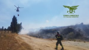 Nella giornata odierna sono stati quattro gli incendi che hanno richiesto l'intervento del mezzo aereo del Corpo forestale.
