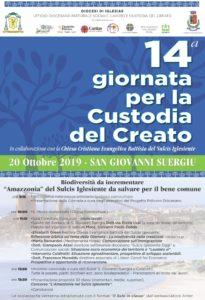 Domenica 20 ottobre si celebra, a San Giovanni Suergiu, la Giornata diocesana per la Custodia del Creato.