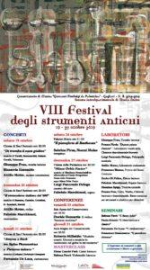 Sabato e domenica, a Cagliari i nuovi concerti del Festival degli Strumenti Antichi.