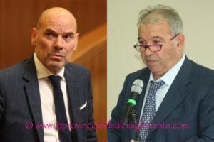 """Antonello Peru e Giorgio Oppi hanno presentato in Consiglio regionale il nuovo gruppo """"Udc-Cambiamo!""""."""