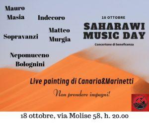 """Venerdì 18 ottobre, nel circolo culturale """"Su Tzirculu"""", a Cagliari, si terrà un concerto di beneficenza a favore dei campi profughi Saharawi, popolazione del Nord Africa da più di 40 anni senz'acqua."""