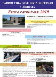 Inizia domani 17 ottobre, e si concluderà domenica 20 ottobre, a Carbonia, la festa patronale di Gesù Divino Operaio.