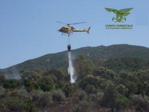 Il Corpo Forestale sta gestendo due incendi, a Burgos e Suni.