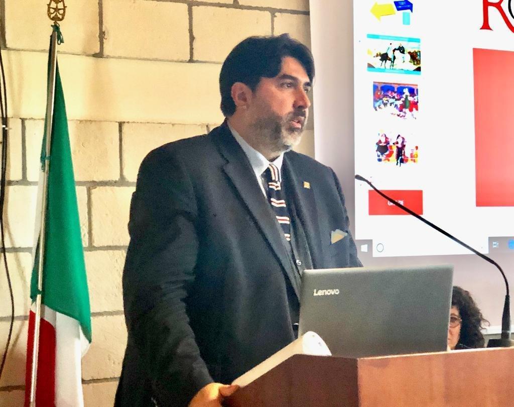 """Christian Solinas: """"Barumini è un modello vincente di sviluppo legato all'economia della cultura""""."""