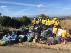 """Sono stati raccolti 30 metri cubi di rifiuti nel corso dell'iniziativa """"Puliamo il mondo Carbonia 2019""""."""