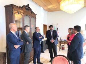 Il presidente della Regione, Christian Solinas, ha ricevuto stamane a Villa Devoto Domenico Parisi, presidente dell'Anpal, l'Agenzia nazionale delle politiche attive del lavoro.