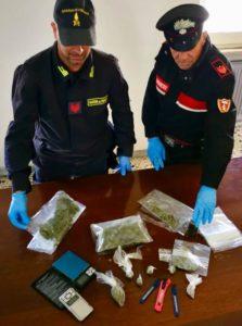 I carabinieri di Sanluri hanno arrestato a Serramanna un 30enne con 2 etti di marijuana e 1 etto di hashish nascosti in un pozzetto nel cortile del palazzo.